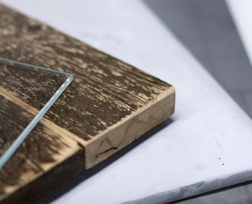 Glas, Holz, Beton, Metall