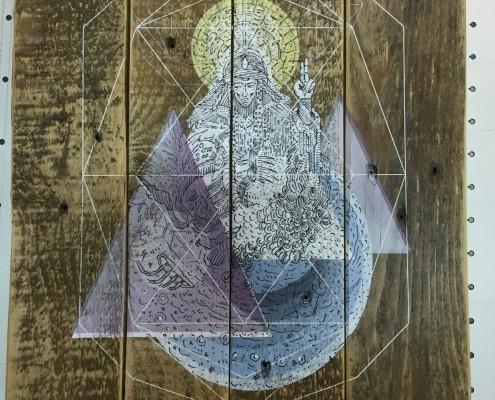 UV Direktdruck auf Palettenholz